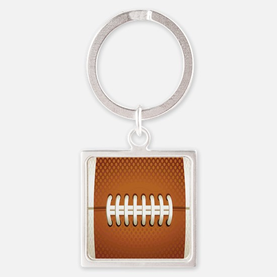 Football Square Keychain