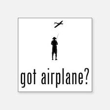 """Remote-Control-Aeroplane-02 Square Sticker 3"""" x 3"""""""