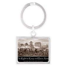 The Right to Keep and Bear Arms Landscape Keychain