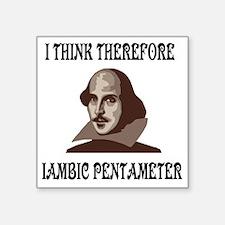 """shakespeare-01 Square Sticker 3"""" x 3"""""""