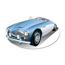 British Classic Muscle Oval Car Magnet