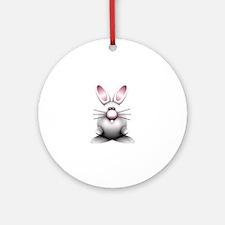 White Bunny Ornament (Round)