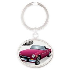 British Burgundy Sweetheart-FAC Oval Keychain