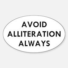 Avoid Alliteration Decal