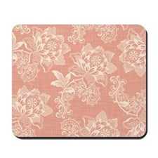 Shabby Chic Soft Floral Damask Mousepad