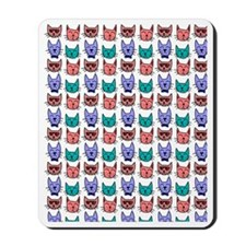 Colorful Cartoon Cats Mousepad