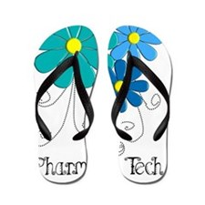 pharmacy tech flower blue Flip Flops