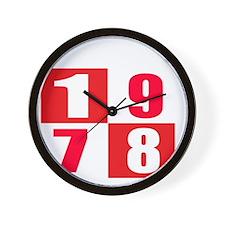 Born In 1978 Designs Wall Clock