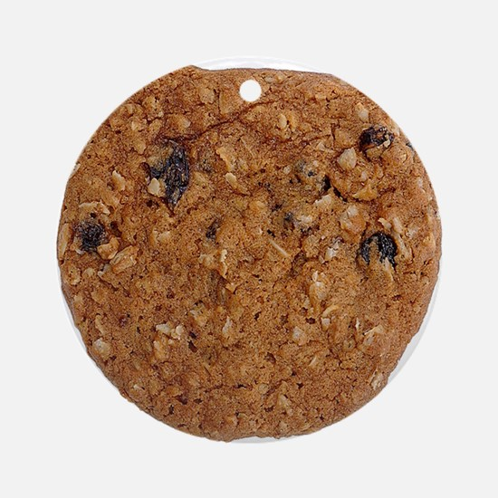 Oatmeal Raisin Cookie Ornament (Round)