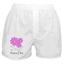 pharmacy tech FLOWER PINK Boxer Shorts