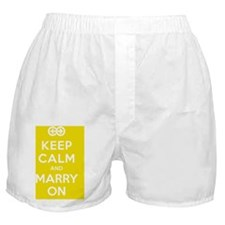 Keep Calm And Marry On Boxer Shorts