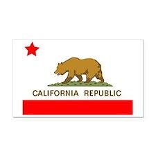 California Republic State Fla Rectangle Car Magnet