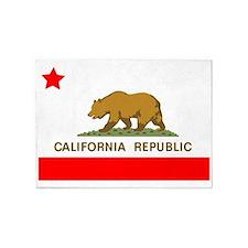 California Republic State Flag 5'x7'Area Rug