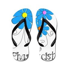 Pharmacist Retro Flower Flip Flops