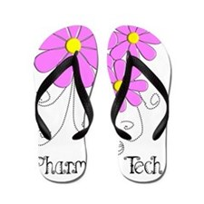 pharmacy tech FLOWER PINK Flip Flops