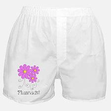 Pharmacist Blue Pink Flower Boxer Shorts