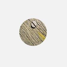 Nailed Down Driftwood Mini Button