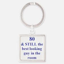80 still best looking 3 Square Keychain
