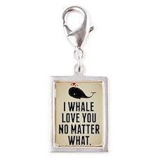I Whale Love You No Matter W Silver Portrait Charm