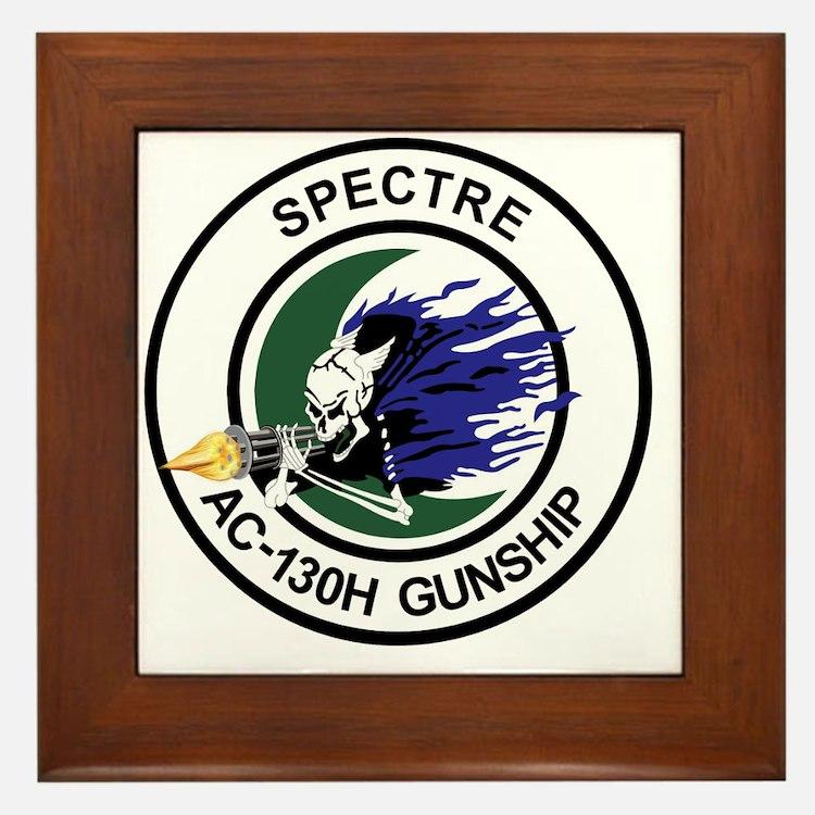 AC-130H Spectre Gunship Framed Tile