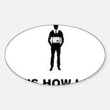 Suicide-Bomber-12-A Sticker (Oval)