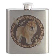 chow chow pawprints Flask