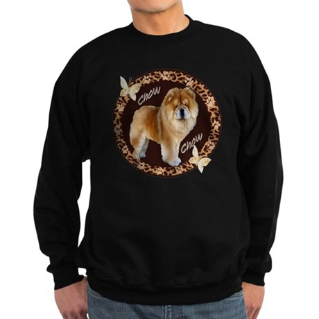chow chow pawprints Sweatshirt (dark)