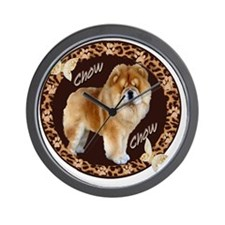 chow chow pawprints Wall Clock