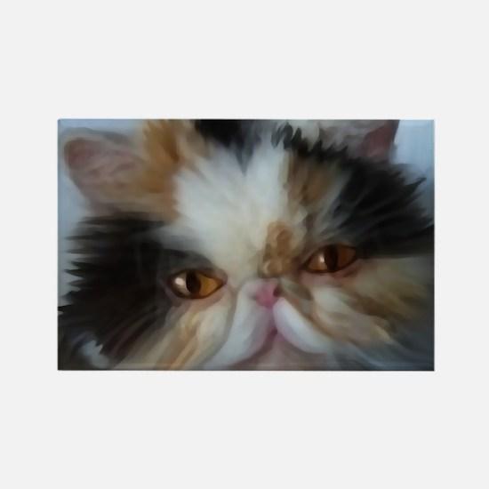 Unique Calico cat art Rectangle Magnet