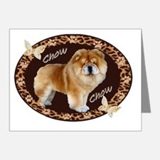 Chow Chow Pawprints Note Cards (Pk of 20)