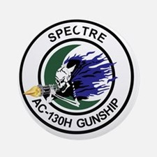 AC-130H Spectre Gunship Round Ornament