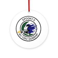 AC-130U Spooky II Gunship Round Ornament