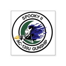 "AC-130U Spooky II Gunship Square Sticker 3"" x 3"""