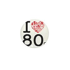 I Heart 80's Mini Button