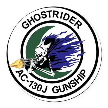 AC-130J Ghostrider Gunship Round Car Magnet