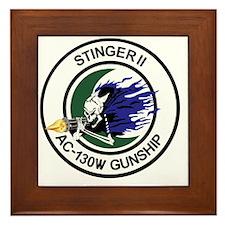 AC-130W Stinger II Gunship Framed Tile