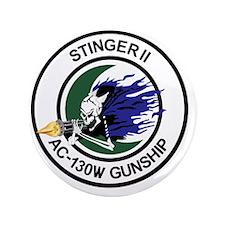 "AC-130W Stinger II Gunship 3.5"" Button"