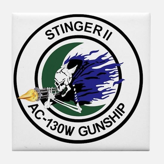 AC-130W Stinger II Gunship Tile Coaster