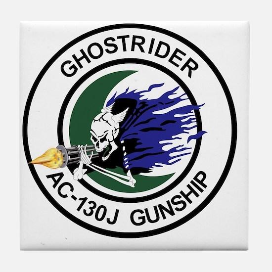 AC-130J Ghostrider Gunship Tile Coaster