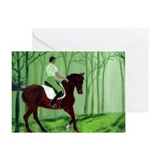 Through There? -Equestrian Art Greeting Card