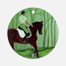 Through There? -Equestrian Art Round Ornament