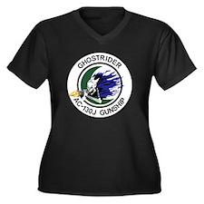 AC-130J Ghos Women's Plus Size Dark V-Neck T-Shirt