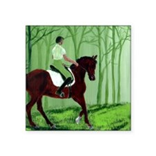 "Through There? -Equestrian  Square Sticker 3"" x 3"""