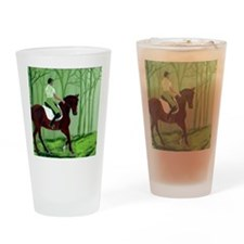 Through There? -Equestrian Art Drinking Glass