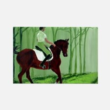 Through There? -Equestrian Art Rectangle Magnet