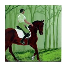 Through There? -Equestrian Art Tile Coaster