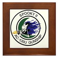AC-130U Spooky II Gunship Framed Tile