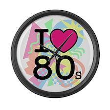 I Heart 80's Large Wall Clock