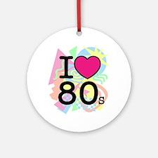 I Heart 80's Round Ornament