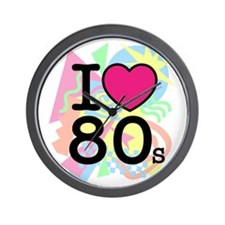 I Heart 80's Wall Clock